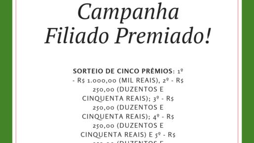 """SISDEP lança campanha """"Filiado Premiado!"""""""